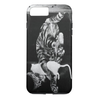 Surprising Friendship - Cat Minnie and Mike Mouse iPhone 8 Plus/7 Plus Case