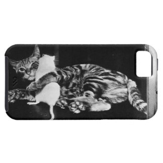 Surprising Friendship - Cat Minnie and Mike Mouse iPhone SE/5/5s Case
