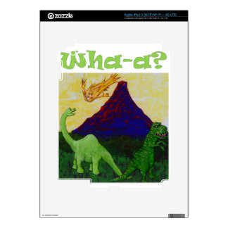 Surpsied Dinosaurs Decals For iPad 3