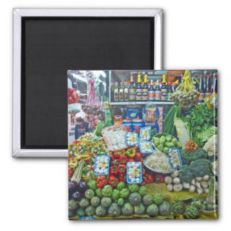Surquillo Mkt-More Veggies 2 Inch Square Magnet
