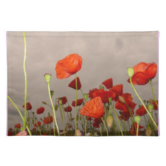 Surrea Red Poppies Place Mats