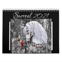 Surreal 2021 Horse Art Calendar, med. Calendar