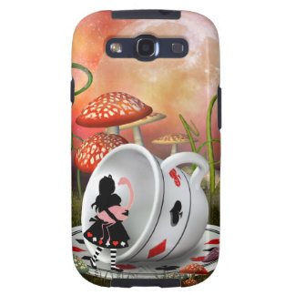 Surreal Alice Flamingo & Teacup Galaxy S3 Covers