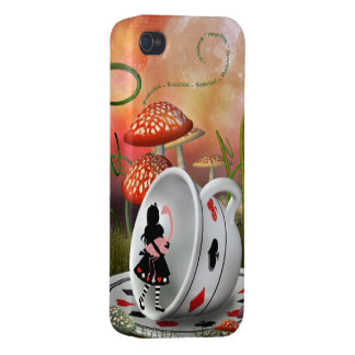 Surreal Alice, Flamingo & Teacup iPhone 4/4S Cover