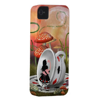 Surreal Alice, Flamingo & Teacup iPhone 4 Case
