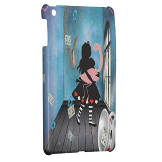 Surreal Alice & Pink Flamingo iPad Mini Case