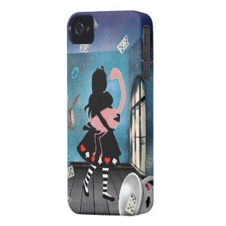 Surreal Alice & Pink Flamingo iPhone 4 Case