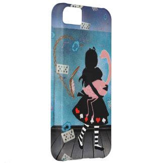 Surreal Alice & Pink Flamingo iPhone 5 Case