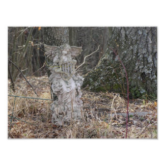 Surreal Angel in The Woods Poster