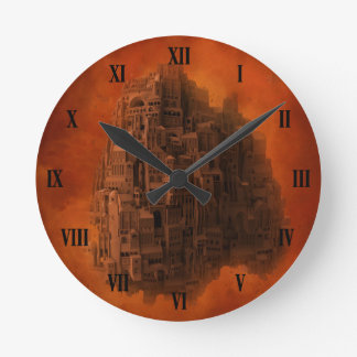 Surreal Architecture Wall Clock