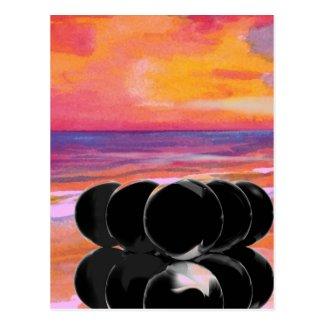 Surreal Art Cards Billiards Beach