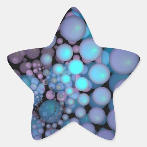 Surreal Art Fractal Turquoise Balls Sticker