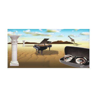 Surreal Art - G Sharp in the Desert 36 x 17 Gallery Wrapped Canvas
