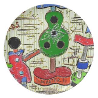 Surreal Art Melamine Plate