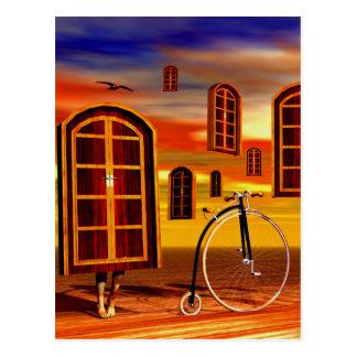Surreal artworks postcard