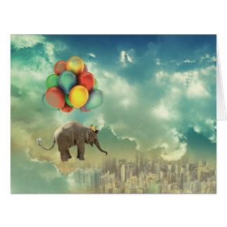 Surreal Balloon Elephant Jumbo Card