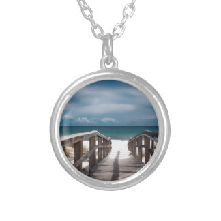 Surreal Beach Silver Plated Necklace