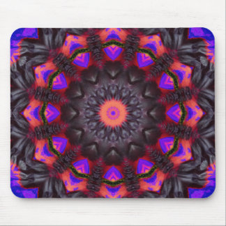 Surreal Blossoms, Flower Mandala Mouse Pad