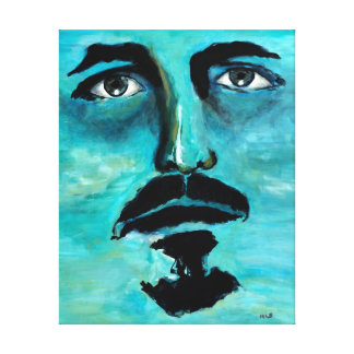 Surreal Blue Portrait Ghost Canvas Men Art Gifts