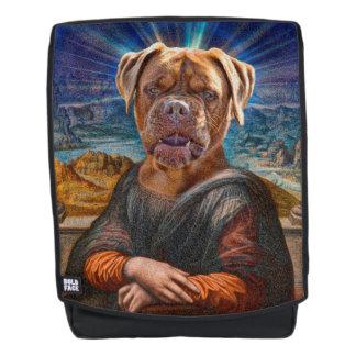Surreal Bulldog Mona Lisa Backpack