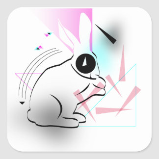 Surreal Bunnehs Square Sticker
