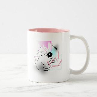 Surreal Bunnehs Two-Tone Coffee Mug
