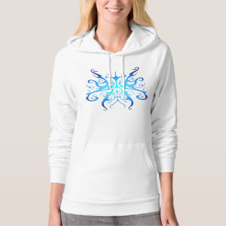 Surreal Butterfly Tribal Tattoo blue Hoodie