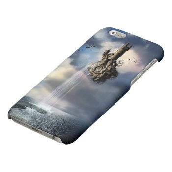 Surreal Castle Waterfall Matte iPhone 6 Case