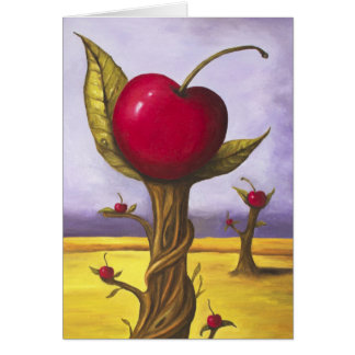 Surreal Cherry Tree Card