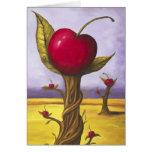 Surreal Cherry Tree Greeting Card