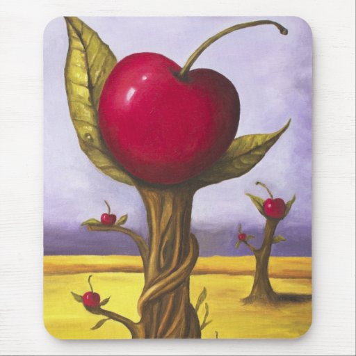 Surreal Cherry Tree Mouse Pad