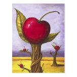 Surreal Cherry Tree Postcard