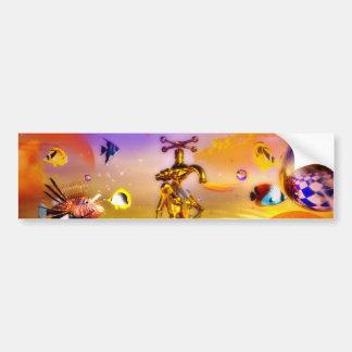 Surreal chess art paintings  fantastic art bumper sticker