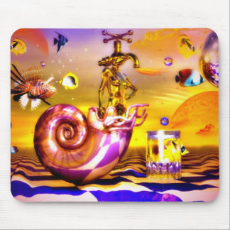 Surreal chess art paintings  fantastic art mouse pad