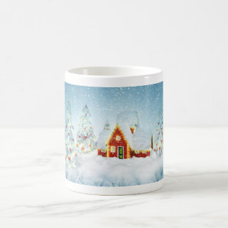 Surreal Christmas Fantasy Basic White Mug