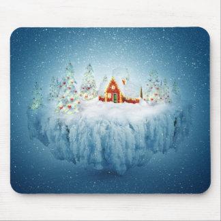 Surreal Christmas Fantasy Mouse Pad