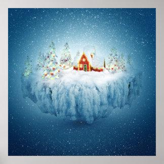 Surreal Christmas Fantasy Poster
