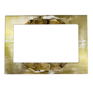 Surreal Coins Magnetic Picture Frame