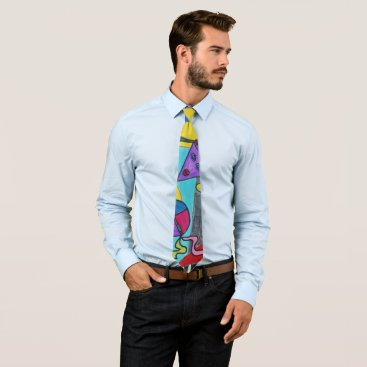 Art Themed Surreal & Colorful! Tie