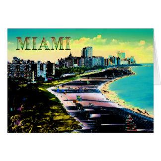 Surreal Colors of Miami Beach Florida Card