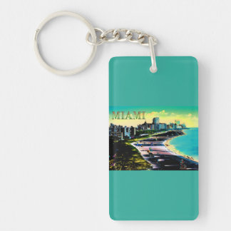 Surreal Colors of Miami Beach Florida Keychain