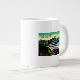 Surreal Colors of Miami Beach Florida Large Coffee Mug