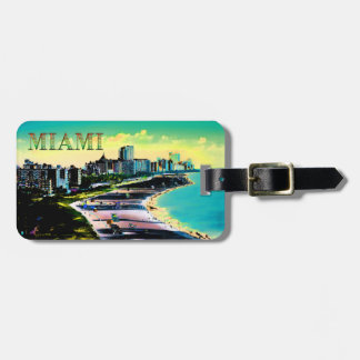 Surreal Colors of Miami Beach Florida Luggage Tags