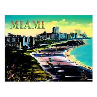 Surreal Colors of Miami Beach Florida Postcard