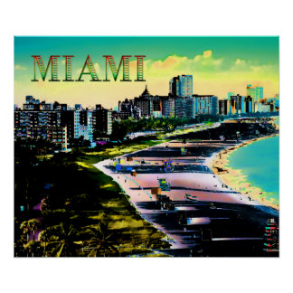 Surreal Colors of Miami Beach Florida Posters
