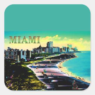Surreal Colors of Miami Beach Florida Square Sticker