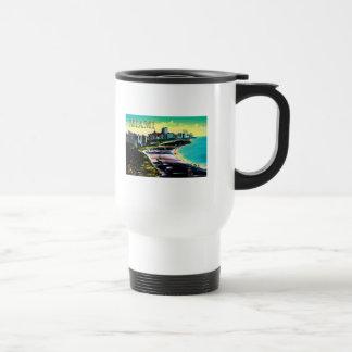 Surreal Colors of Miami Beach Florida Travel Mug