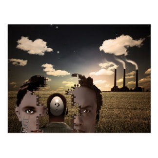 Surreal Composition Postcard