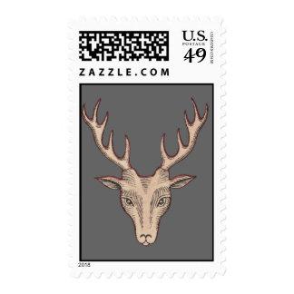 Surreal Deer Head Stamp