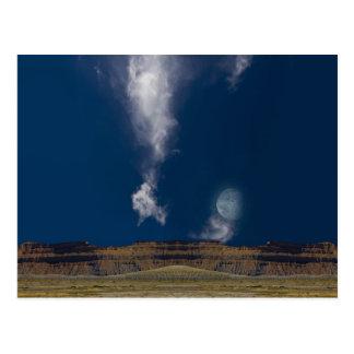 Surreal Desert Landscape Postcard